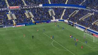 Leicester mot Man Utd - 47 minutter