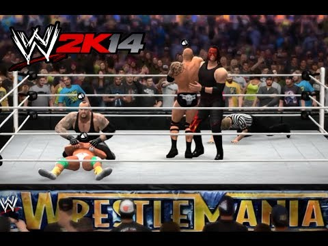 WWE 2K14 - Kane and The Undertaker vs The Rock and Alberto Del Rio Tornado Tag Online Match Travel Video