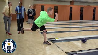 Most bowling strikes in one minute - Guinness World Records