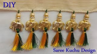 saree kuchu with elephant beads | saree kuchu | saree tassels | saree kuchu with 3 types of beads