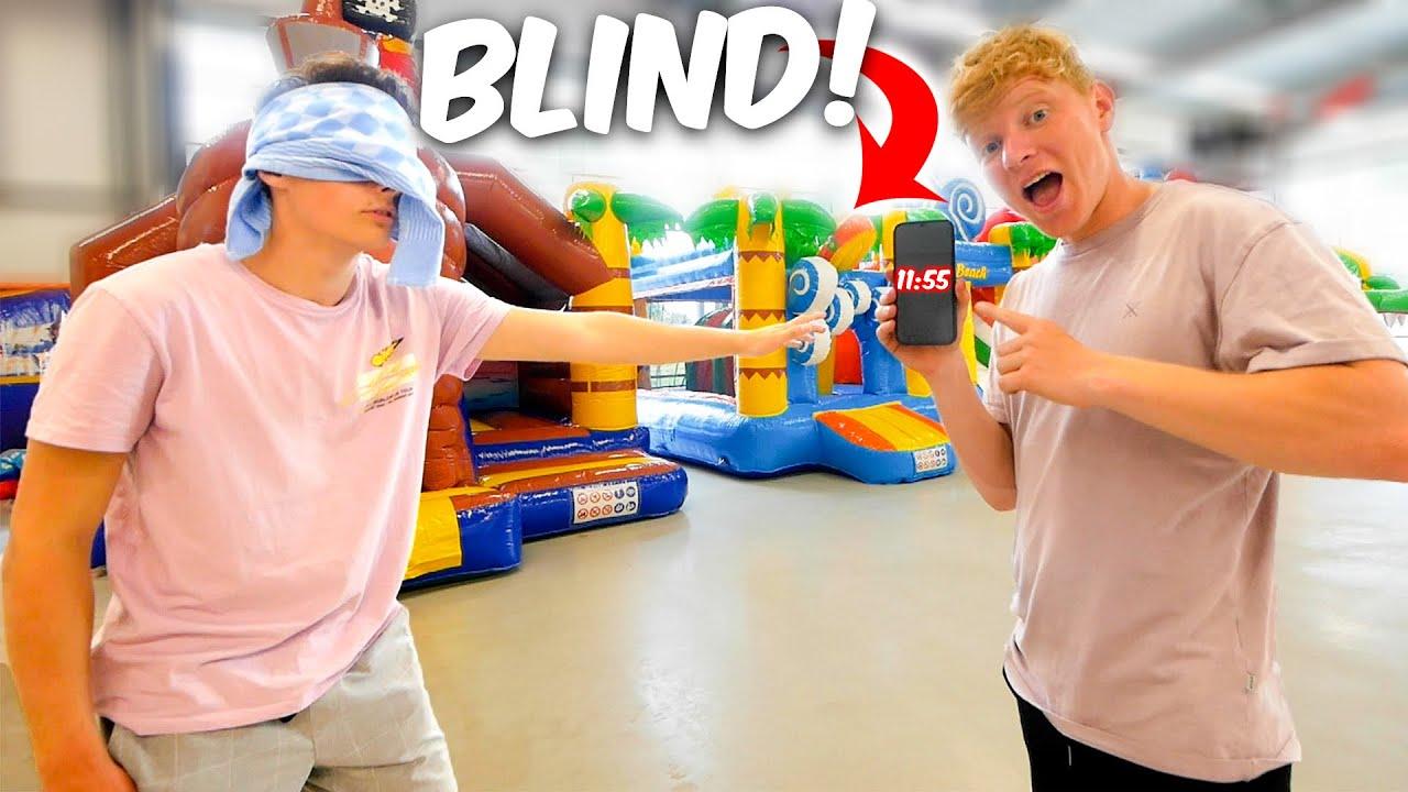 BLIND SPRINGKUSSEN CHALLENGE! **LACHEN**
