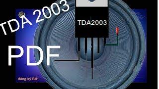 Lắp ampli với TDA 2003, Cách làm bộ mạch loa 12v với TDA, a simple amplifier