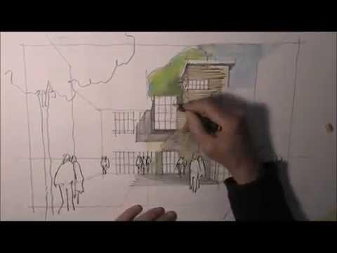 architektur zeichnen lernen 4 youtube. Black Bedroom Furniture Sets. Home Design Ideas