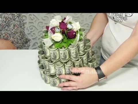 Торт из денег и конфет своими руками мастер класс