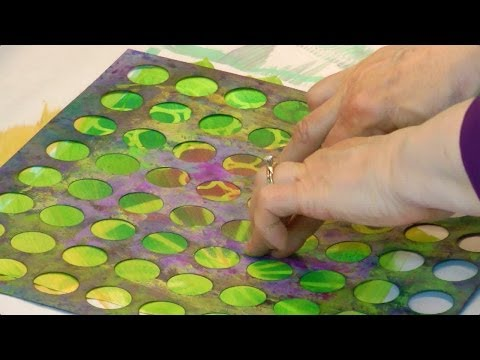Paste Paper Pizazz Turn Piles Into Perfection - HowToGetCreative.com with Barb Owen
