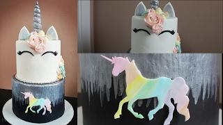 Unicorn Rainbow Cake Tutorial!