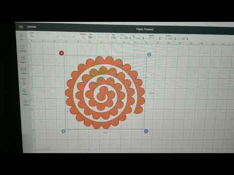 Cricut Design Space 3D Paper Rose /flowers