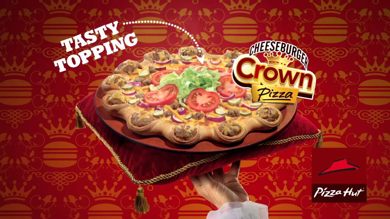 Cheeseburger Crown Pizza Tvc Youtube