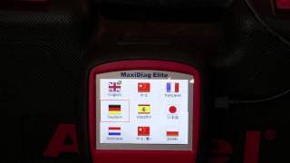 Autel MD802 - finding password, languages and functions