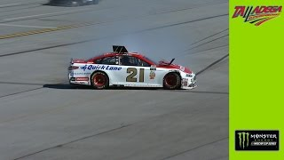 Ryan Blaney gets turned into the wall