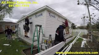 All About Exteriors Inc - 2.5 Hours Vinyl Siding Installation in 7 minutes in Elk Grove Village