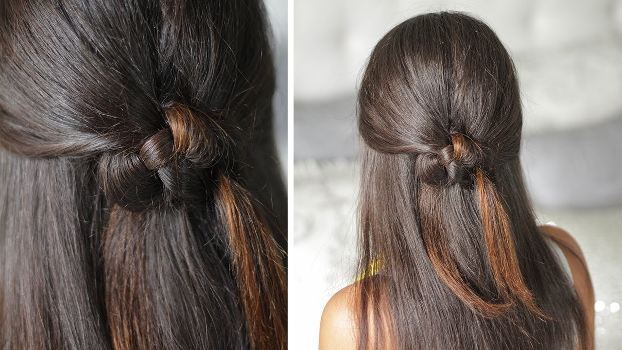 Hair Styles For Spring: Celtic Heart Knot Half-Up Half-Down Organic Hairstyle