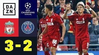 Roberto Firmino Matchwinner nach Schlagabtausch: Liverpool - PSG 3:2 | UEFA CL | DAZN Highlights