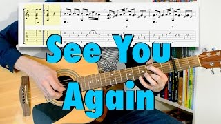 Wiz Khalifa - See You Again ft. Charlie Puth (fingerstyle cover, acoustic guitar, tab)