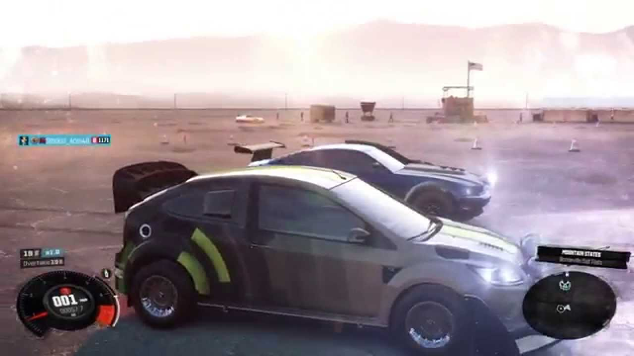 the crew drag race ford focus rs vs ford mustang gt dirt spec youtube. Black Bedroom Furniture Sets. Home Design Ideas