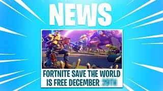 Fortnite Save The World FREE RELEASE DATE! (How To Get Save The World For Free)
