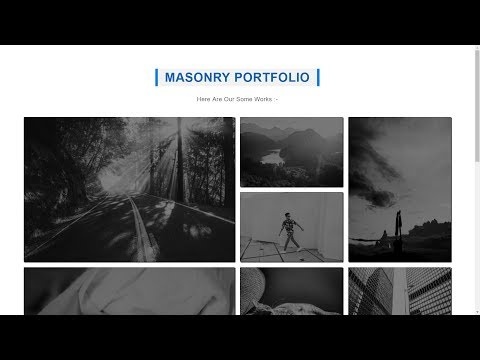 CSS 3 Responsive Masonry Portfolio Using Grid | Responsive Designes
