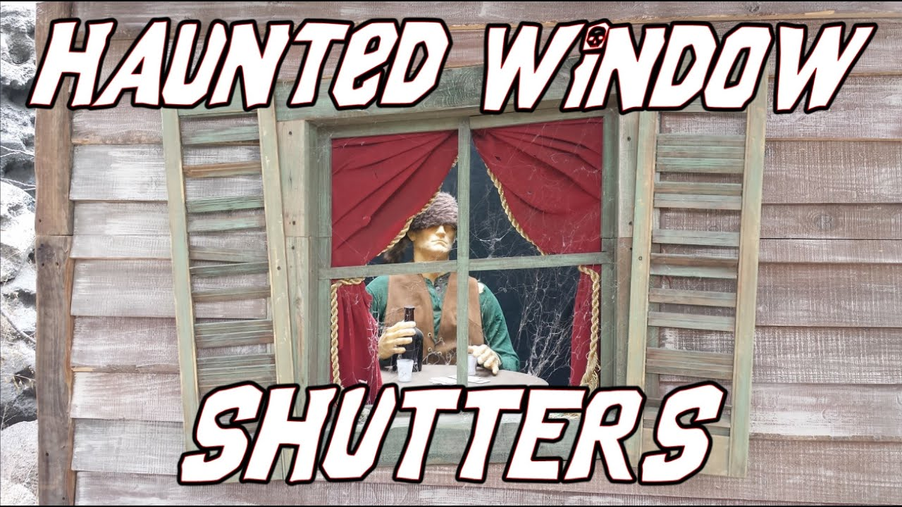 How To Make Creepy Old Haunted House Window Shutters Youtube