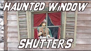 How To Make Creepy Old Haunted House Window Shutters