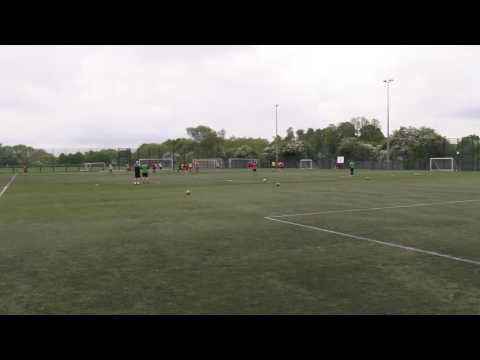 UEFA A Licence - Coaching a 4-3-3 v 5-3-2 (Phase of Play)