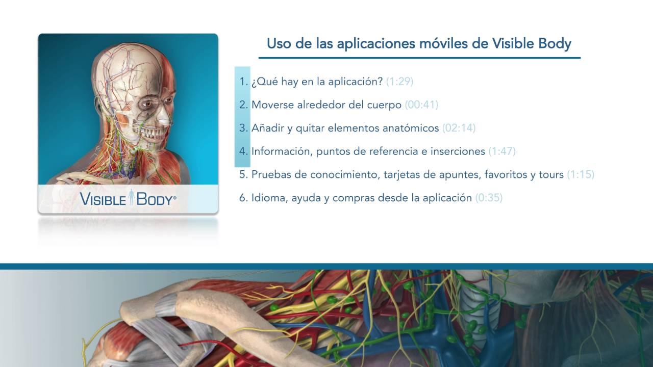 Uso del Atlas de anatomía humana (iPhone y celular Android ...