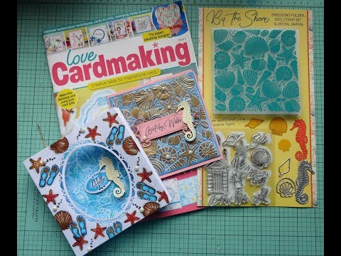 Love Cardmaking Magazine Issue 4  with cards sample using the freebies