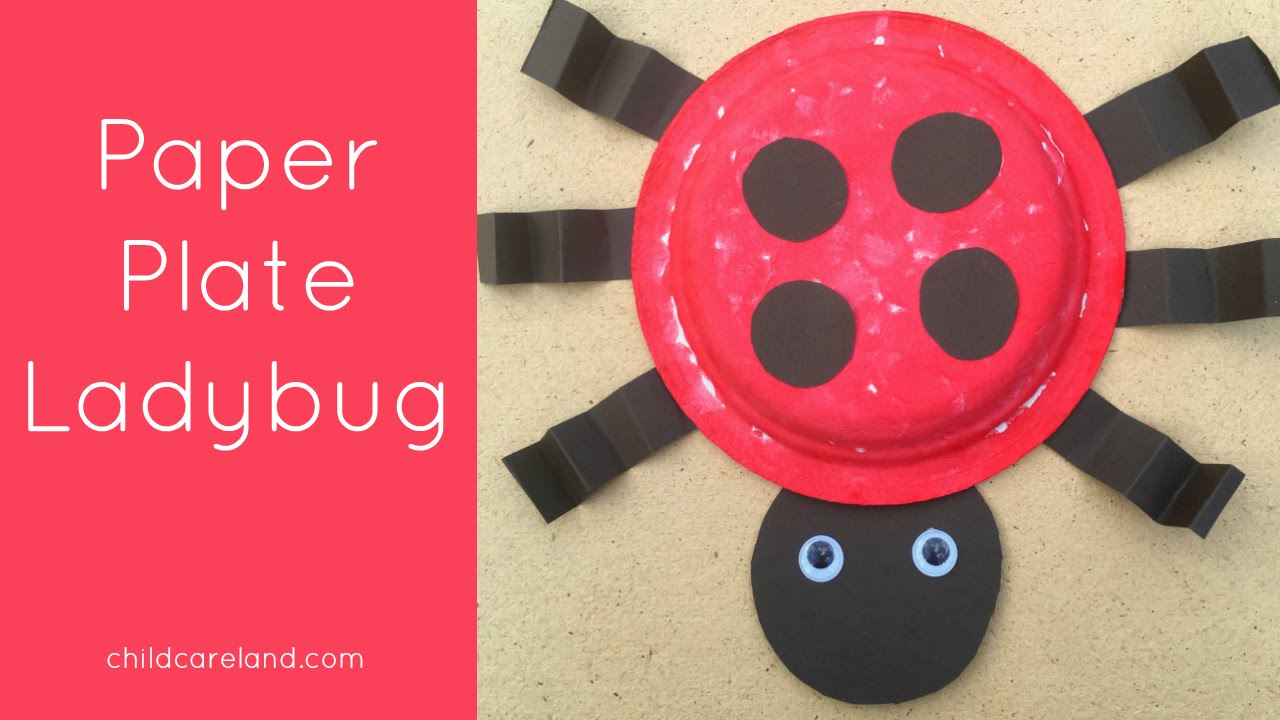 Paper Plate Ladybug Craft For Prescool And Kindergarten