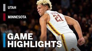 Highlights: Utah at Minnesota | Big Ten Basketball