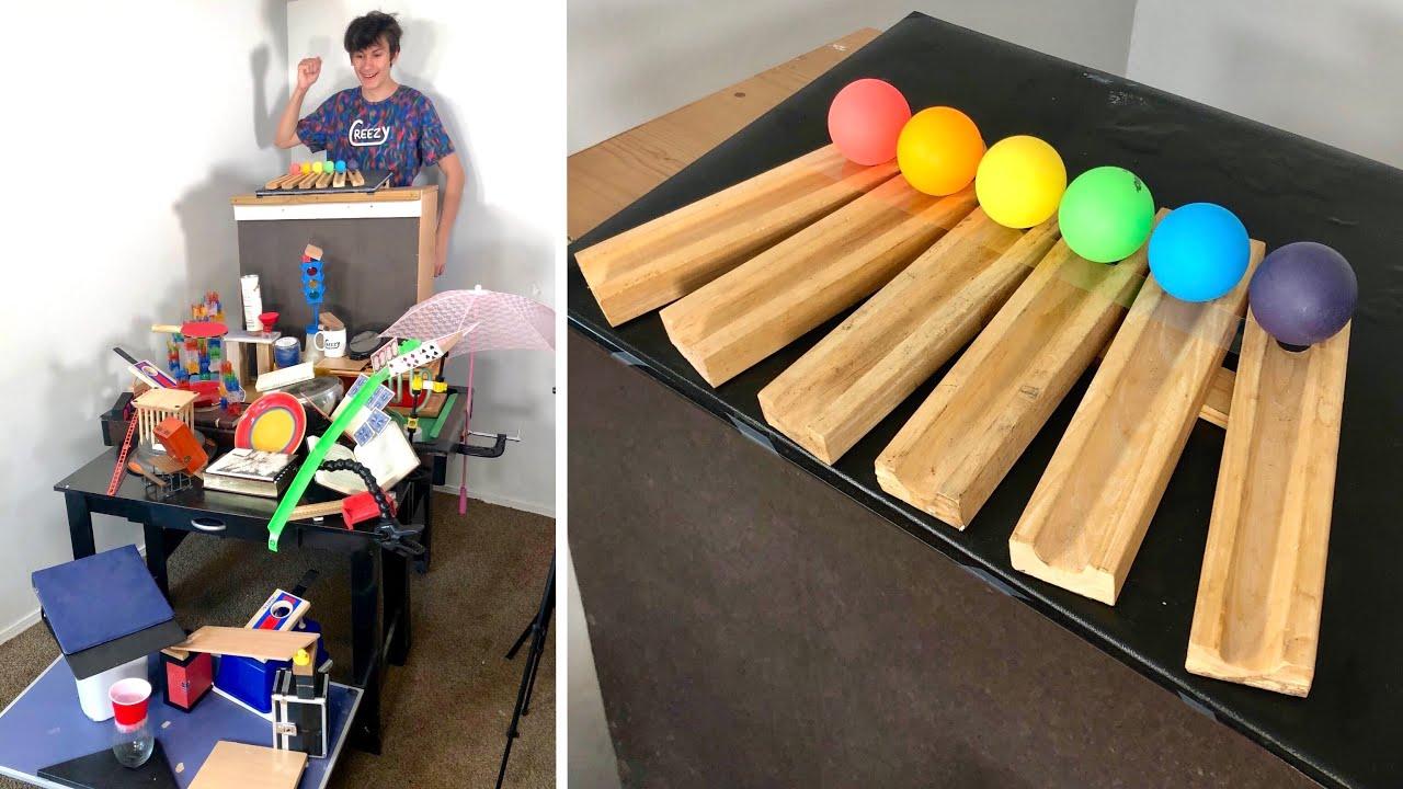Incredible 6 Ball Ping Pong Trickshot