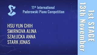 13th November - 1st stage / Part 1 - Paderewski Piano Competition