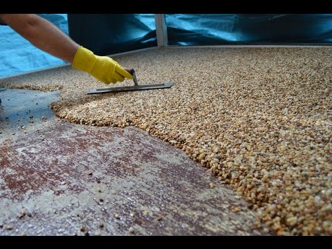 How-To Install Epoxy Natural Stone Flooring