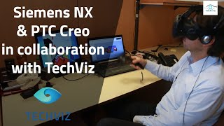 virtual Reality - Siemens NX & PTC Creo in collaboration between two HTC Vive