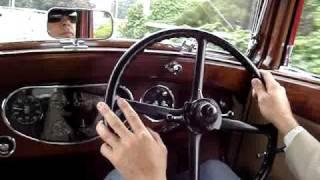 1934 Rolls-Royce 20/25 on the freeway