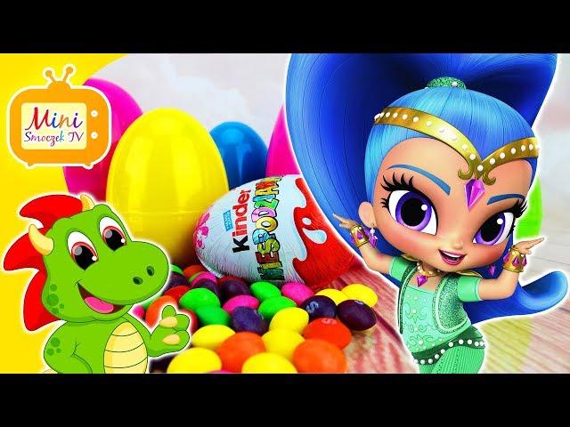 Shimmer i Shine Bajka | Jajka Kinder Niespodzianki | Play-Doh Kolory Liczenie | Filmik Dla Dzieci