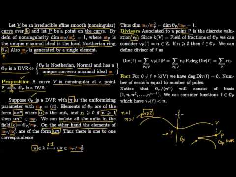DVR, Nonsingular Curves and Sheaf of Divisors