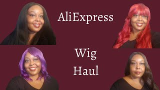 AliExpress Wig Haul   Try-on   Synthetic Wigs Under $25