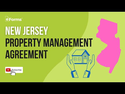 New Jersey Property Management Agreement - EXPLAINED