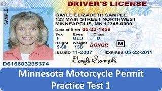 Minnesota Motorcycle Permit Practice Test 1