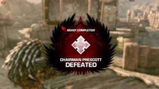 Gears of War 3 | Beast Mode Insane Difficulty Without Failing a Wave (Coop)