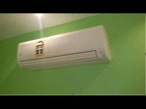 طريقة تركيب مكيف سبلت فيوجي على نحاس في الجدار Comment D Installer La Climatisation Fuji Youtube