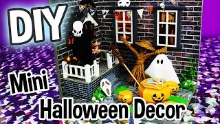 DIY Halloween Decor Miniature Dollhouse Kit Cute Roombox with Working Lights! / Relaxing Crafts