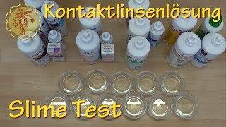 Slime-Test: 17 Kontaktlinsenlösungen