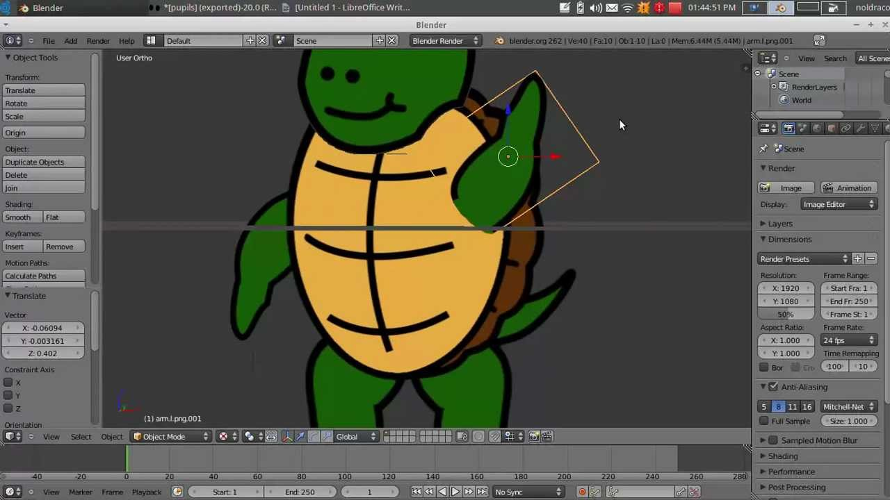 2D Animation In Blender Tutorials- Importing your Character into Blender