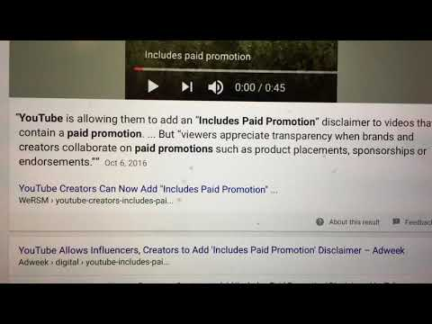 What Is INCLUDE PAID PROMOTION Means!