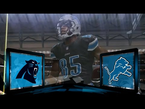 Madden NFL 17 Detroit Lions Franchise- Year 2 Divisional Round vs Carolina Panthers