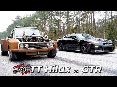 LS TWIN TURBO Hilux GOES DRAG RACING - Deathwish EP5