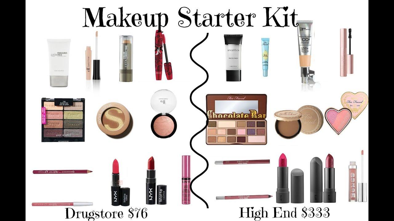 Makeup Starter Kit Drugstore High End