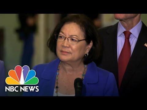 On Kavanaugh Debate, Senator Mazie Hirono Tells Men Of Country To 'Shut Up And Step Up'   NBC News