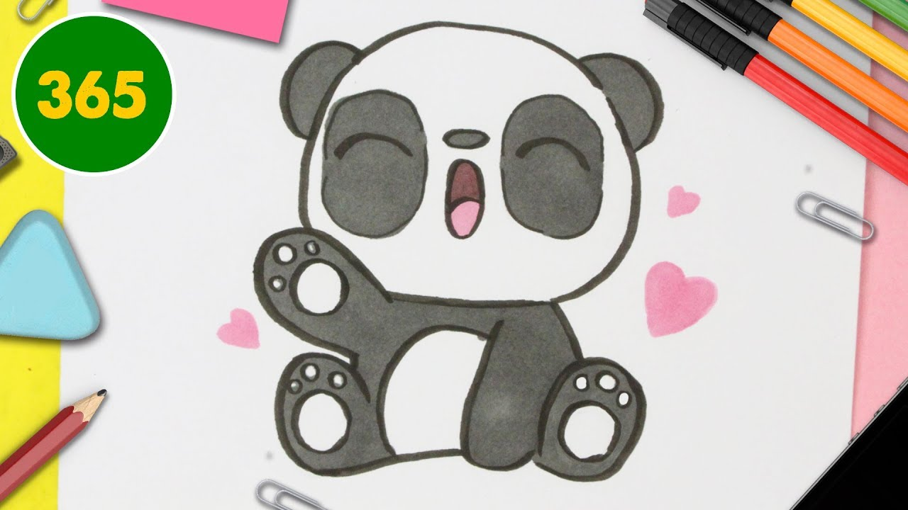 Comment Dessiner Panda Kawaii Etape Par Etape Dessins Kawaii Facile Youtube