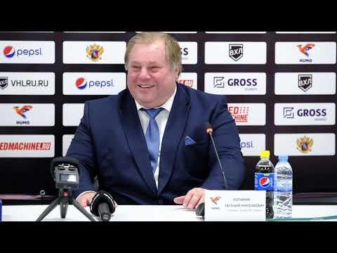 Хоккей. Пресс-конференция после игры «Хумо» - «ЦСК ВВС» (4:3)